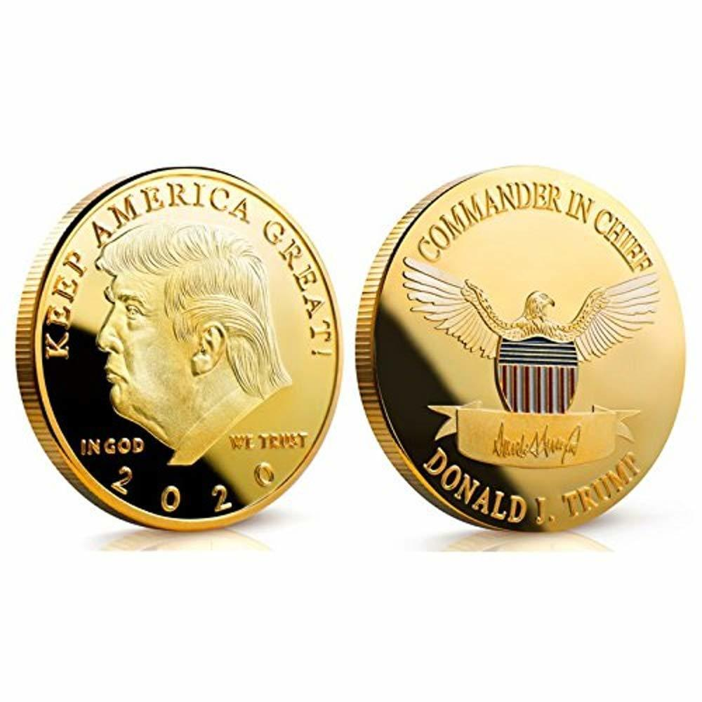 Donald J Trump 2020 Keep America Great Commander in Chief Gold Coin